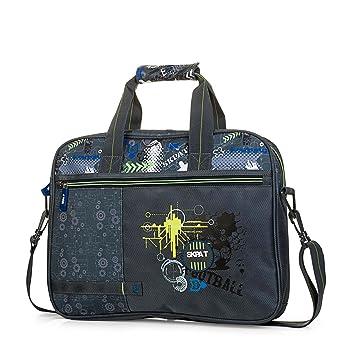 SKPAT - Mochila maletín extraescolar con Bandolera Ajustable y 2 Asas. Bolsillo Exterior con Cremallera. Apertura Amplia 53806, Color Gris Oscuro: SKPAT: ...