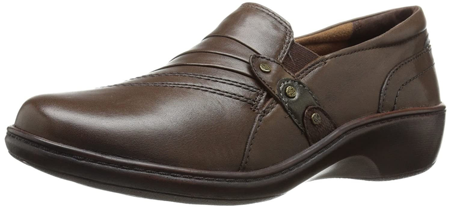 Aravon Women's Danielle-AR Flat B00UU3IB26 10 2E US|Dark Brown