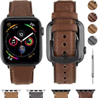 Fullmosa Compatible for Apple Watch Band 38mm 40mm 42mm 44mm, Fullmosa YOLA Leather Apple Watch Band for iWatch Series 5/4/3/2/1, Nike+, Edition, Sport