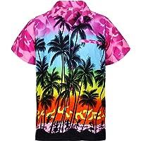 Original King Kameha   Funky Camisa Hawaiana   Señores   XS - 6XL   Manga Corta   Bolsillo Delantero   Impresión de…