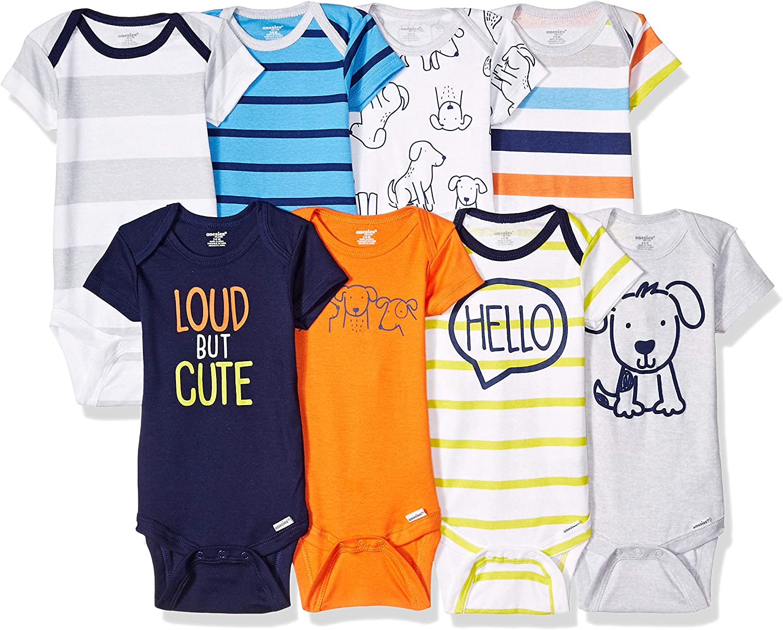 Onesies Brand baby-boys 8-pack Short Sleeve Mix & Match Bodysuits