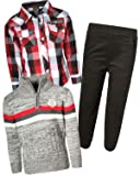 Enyce Boys 3-Piece Pant Set with Zip Sweater