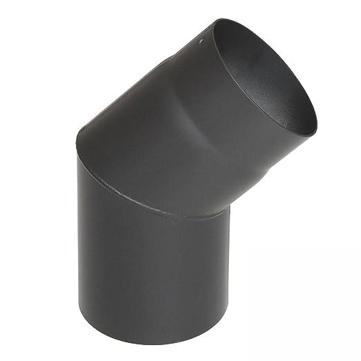 raik SH027 - 130 de humo GG Tubo de estufa (130 mm - 45 ° Color Gris: Amazon.es: Bricolaje y herramientas