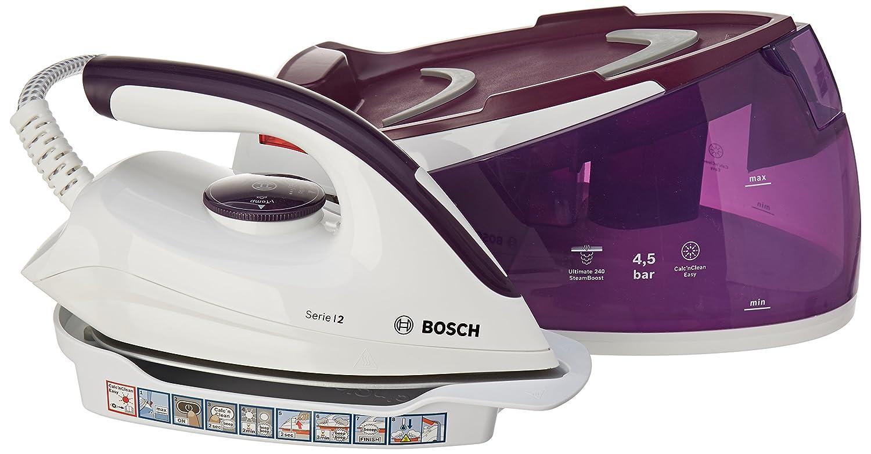 Bosch TDS2170 Serie 2 Centro de Planchado con Autonomía Ilimitada, 240 g de Supervapor, Funciones Itemp y ECO, 2400 W, 1.5 Litros, Blanco y Violeta Oscuro: ...