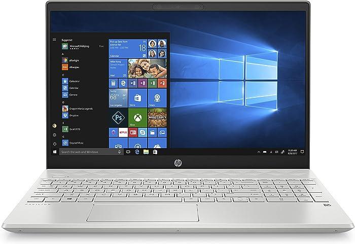 HP Pavilion 15-Inch Laptop, Micro-EDGE Touchscreen, All-Metal -Case, Intel Core I5-8265U Processor, 8 GB RAM, 256 GB Solid-State Drive, Windows 10 Home (15-cs2010nr, Mineral Silver)