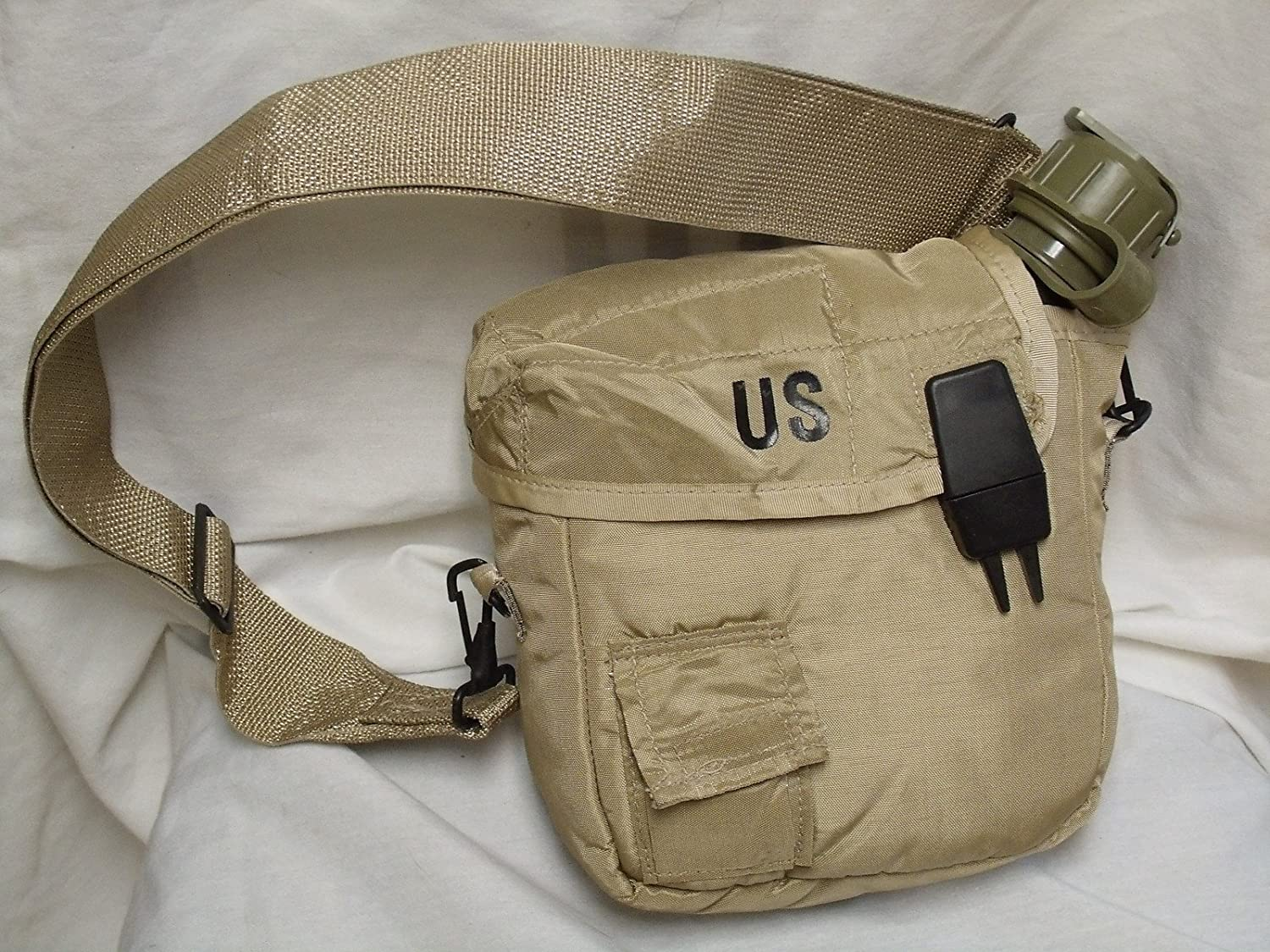 Military Issue 2 Quart Water Canteen with New Issue Insulated Carrier and Shoulder Sling by Military issue