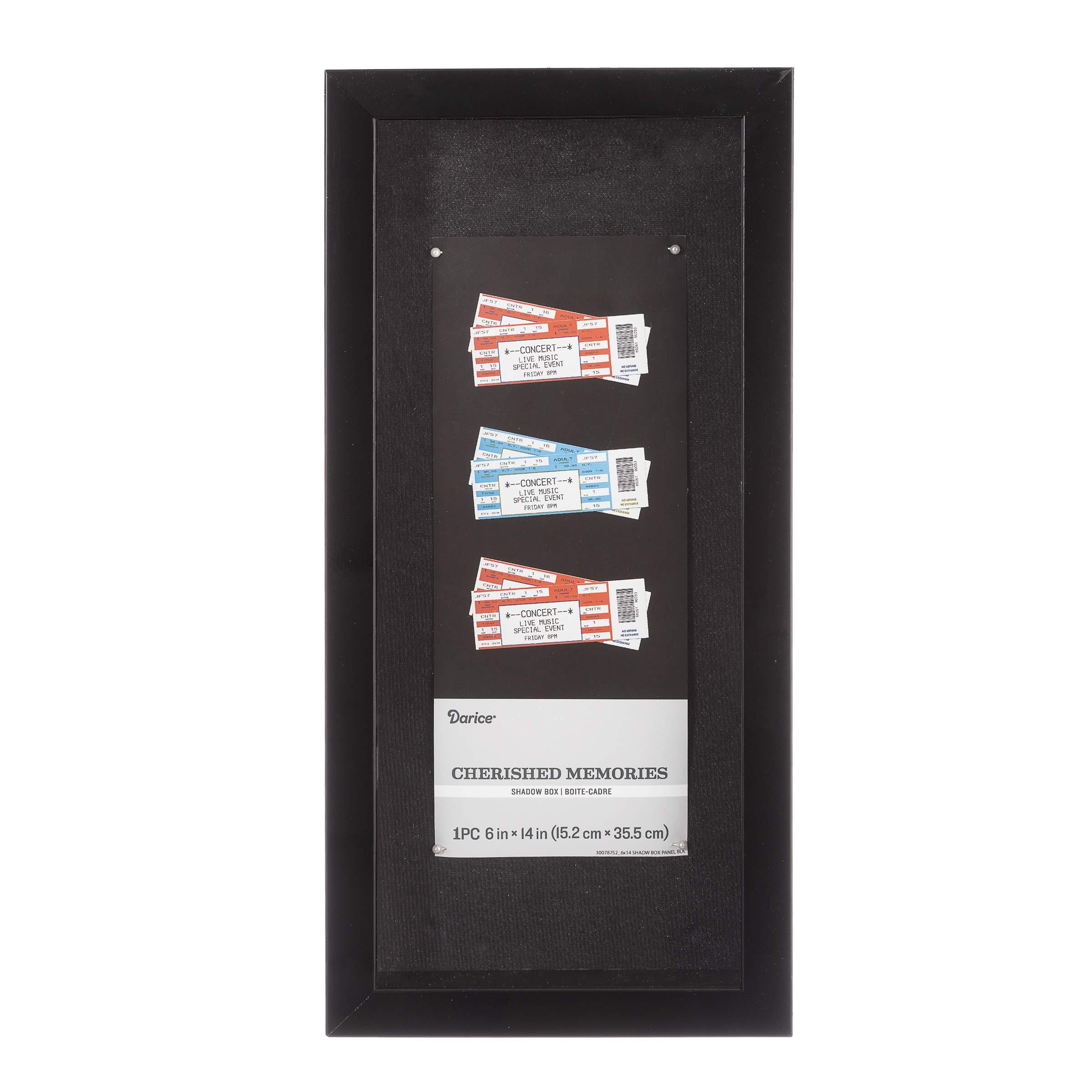 Darice Panel Shadowbox: Black, 6 x 14 Inches by Darice