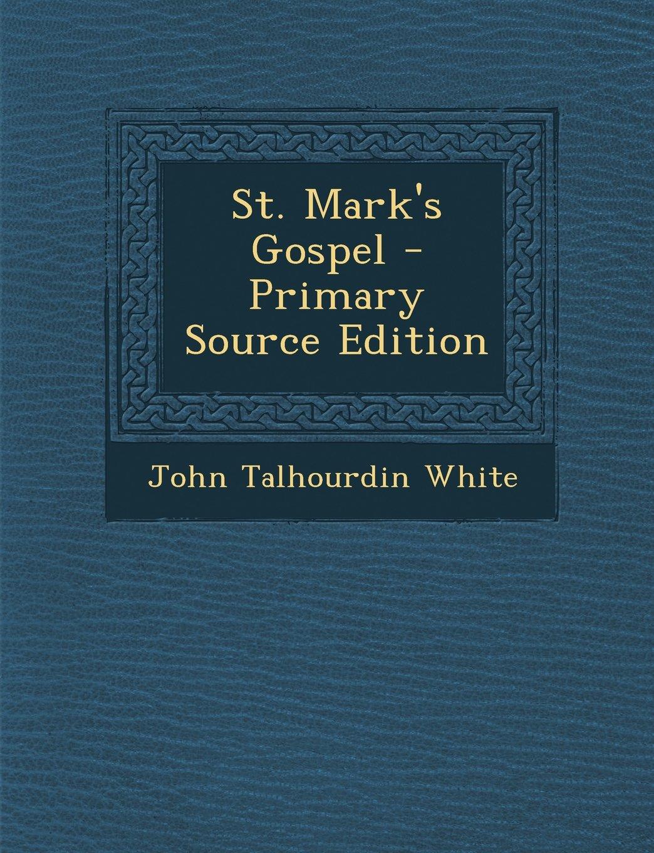 St. Mark's Gospel PDF