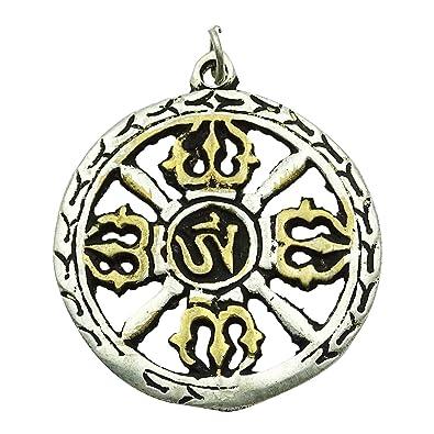 Zingblingit Silver Tibetan Buddhist Om Symbol Pendant Nepal Art