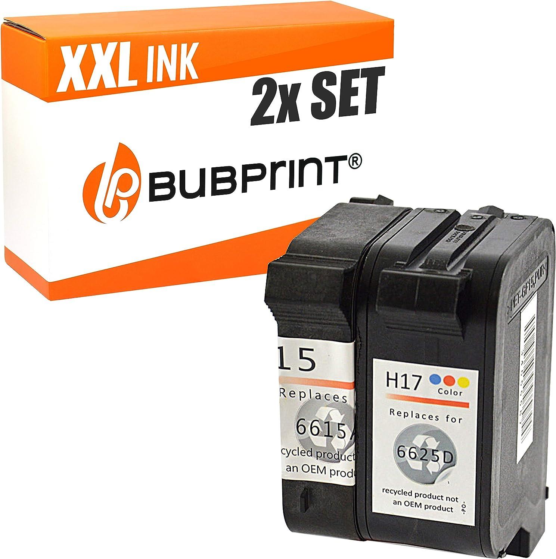 Bubprint 2 Druckerpatronen Kompatibel Für Hp 15 Und Hp 17 Für Deskjet 816c 817c 825c 825cvr 840c 840 Series 841c 842c 843c 845c 845cvr Fax 1010 Bürobedarf Schreibwaren