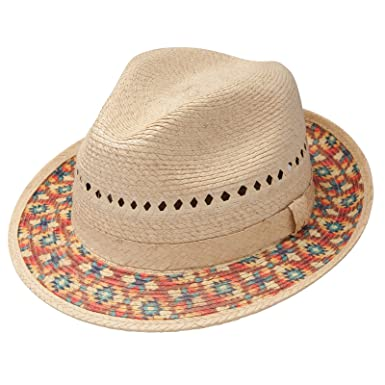 Amazon.com  CHARLIE 1 HORSE HATS Womens Taos Straw Fedora S Natural ... 2fd8788044c