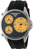 Torgoen Swiss Men's T08302 Triple Time Zone Yellow Polyurethane Strap Watch