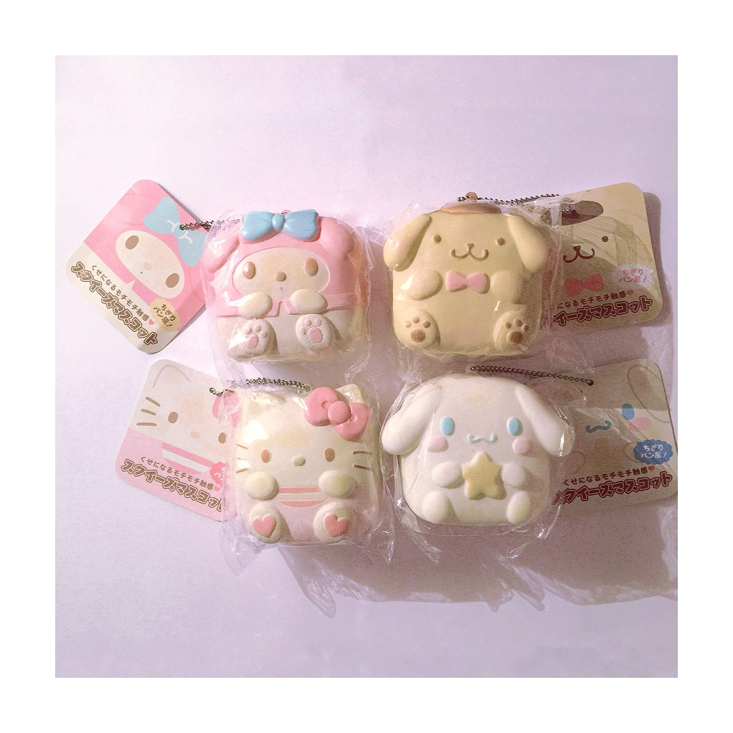 (4) Chigiri Sanrio License Squishies