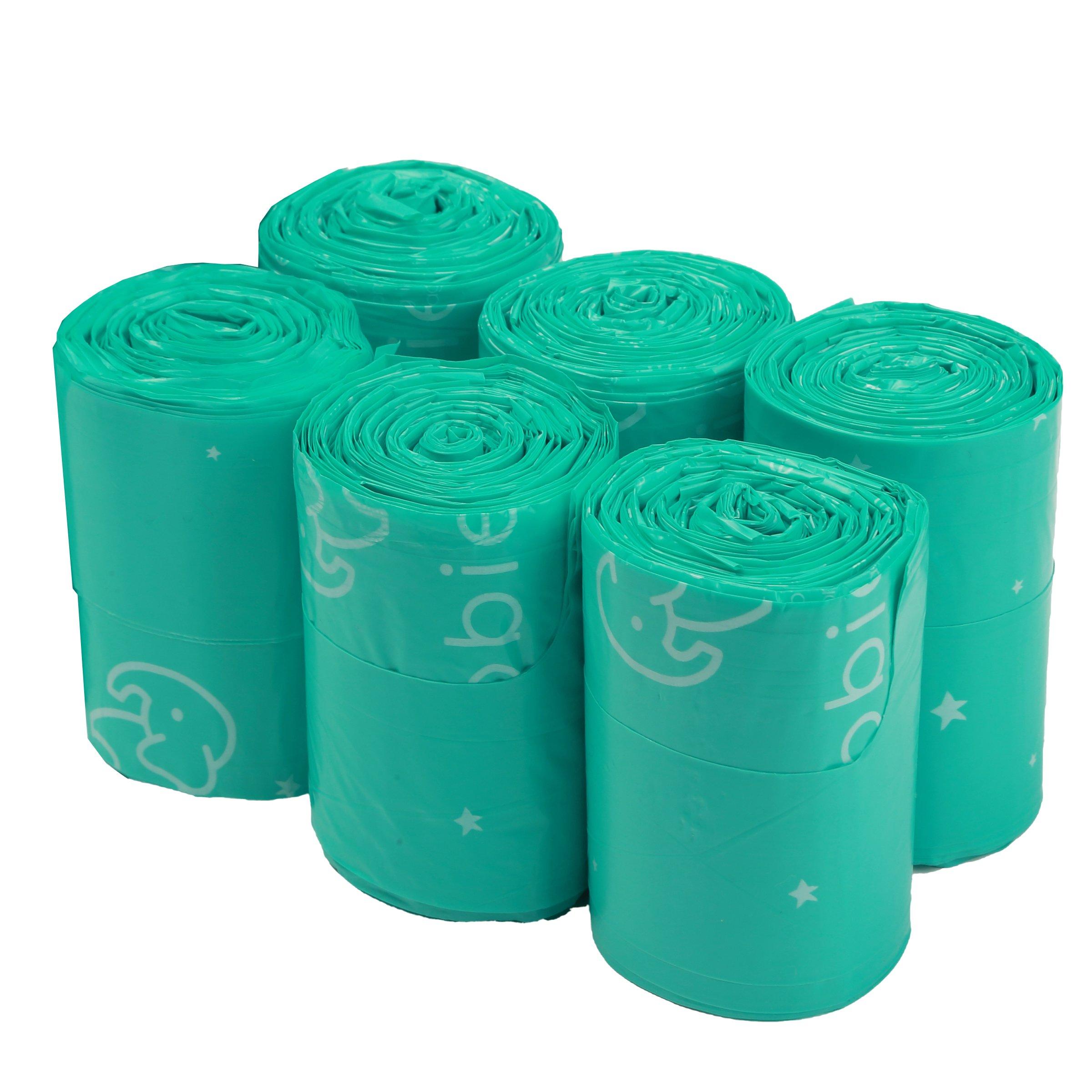 Goobie Baby Diaper Bag Dispenser Refill Rolls of Unscented Disposable Refill Bags   Waste Bag (6 Roll Bag Refill - 150 Bags) by Goobie Baby