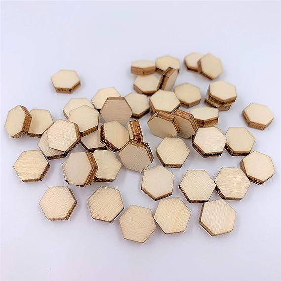 2 pairs Wood Cut Black Round Post Earring Mini Hexagonal Wooden Stud Earring 4pcs WED013