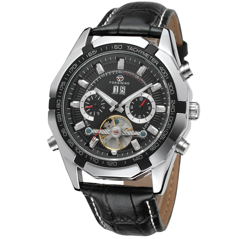 Forsining Tourbillion Automático Hombre muñeca reloj fsg340 m3t1: Amazon.es: Relojes