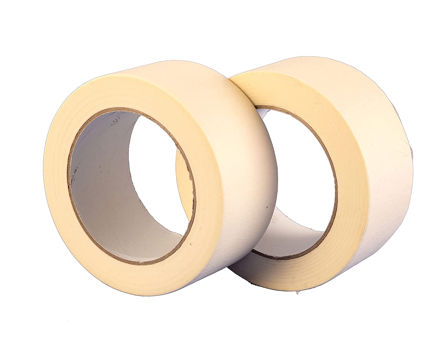 Twin Pack Premium Masking Tape - 50m x 25mm (1') - High Quality Painting & Decorating Strong Adhesive - 2 Rolls by Gocableties
