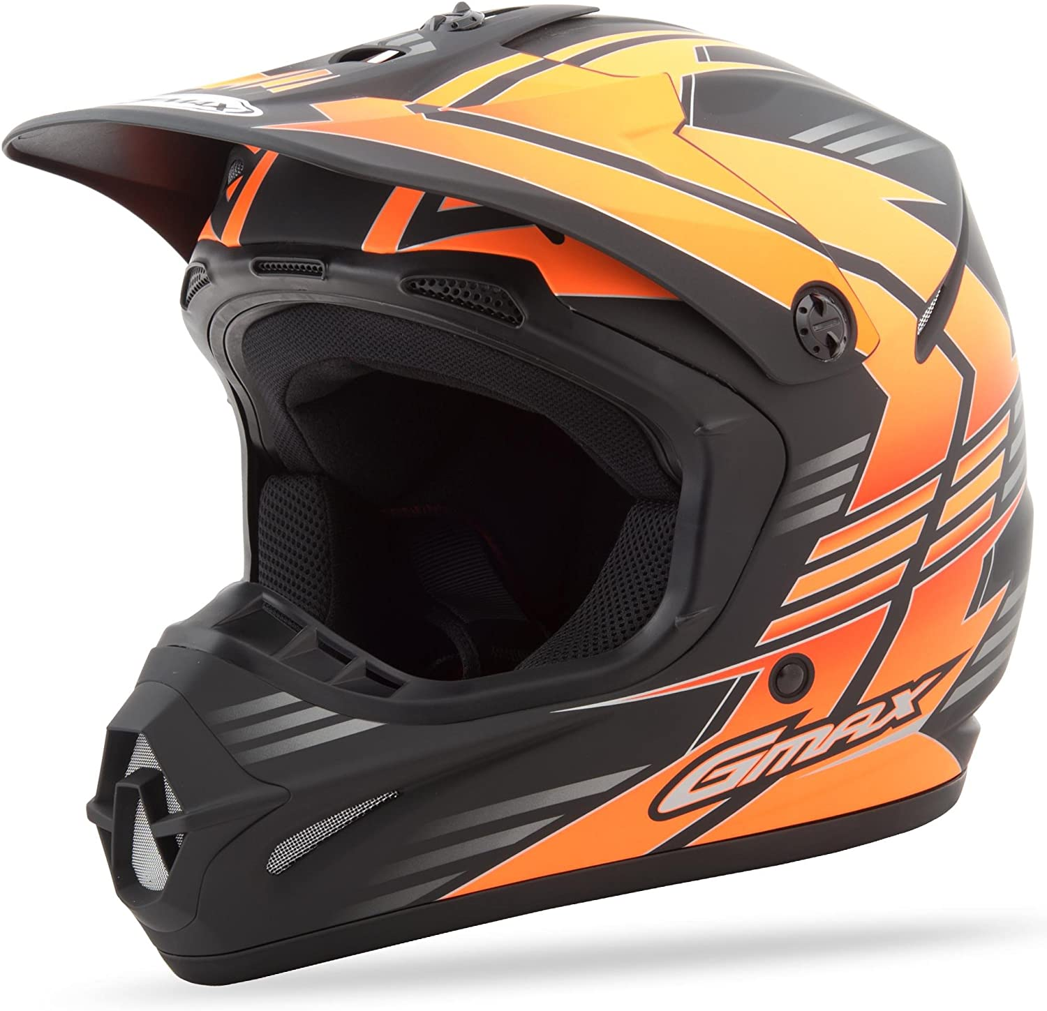 GMAX Unisex-Adult Full-face Style G3466696 TC-26F Gm46.2X Race Helmet Black//Hi-Vis Orange l Large G3466696TC-26F