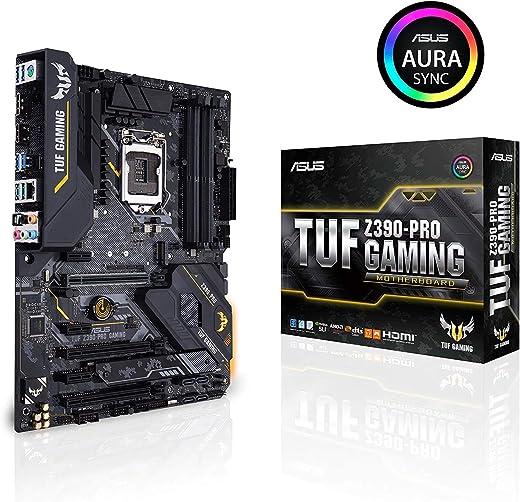 ASUS TUF Z390-Pro Gaming LGA1151 (انتل الجيل الثامن والتاسع) ATX DDR4 HDMI M.2 USB 3.1 Gen2 Gigabit LAN Motherboard
