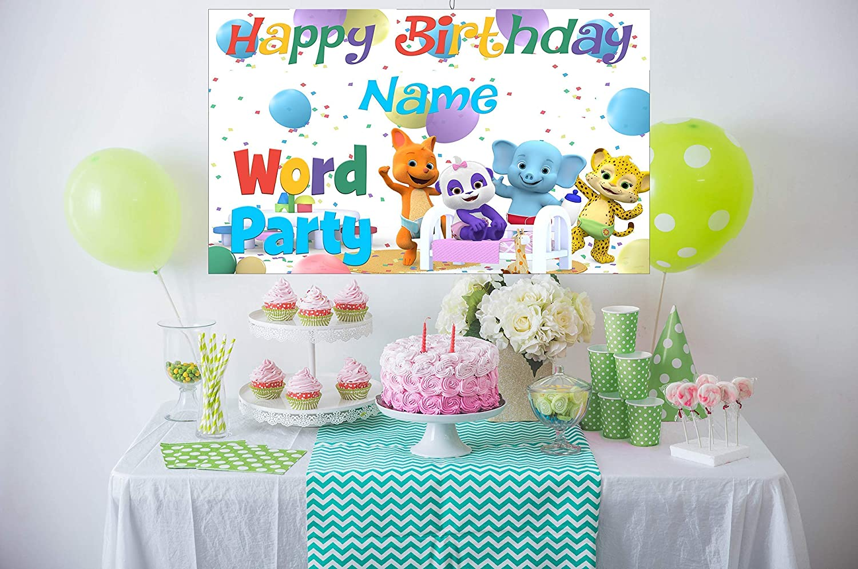 Amazon Word Party Birthday Banner Personalized Custom Handmade