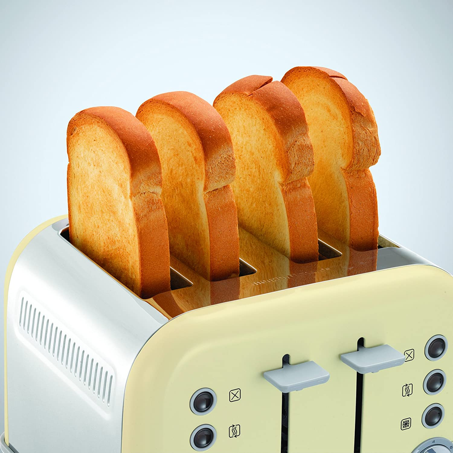 Morphy Richards Accents Special Edition 4 Slice Toaster, Cream Cream