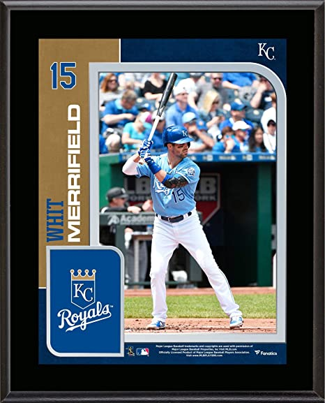 ffa71aacb71 Image Unavailable. Image not available for. Color  Whit Merrifield Kansas  City Royals 10.5 quot  x 13 quot  Sublimated Player ...