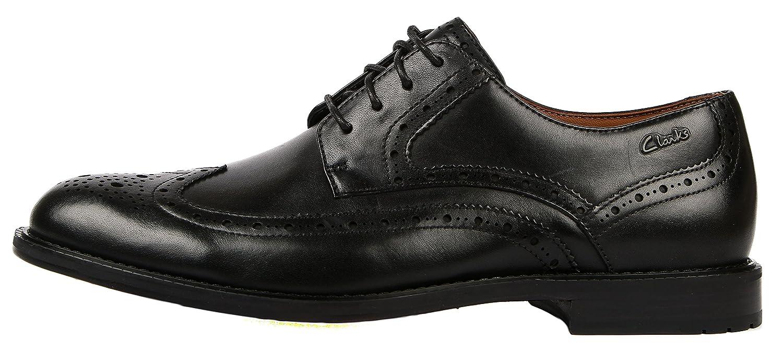 Clarks Dorset Limit, Mens Lace-up Flats, Black (Black Leathe), 6 UK: Amazon. co.uk: Shoes & Bags