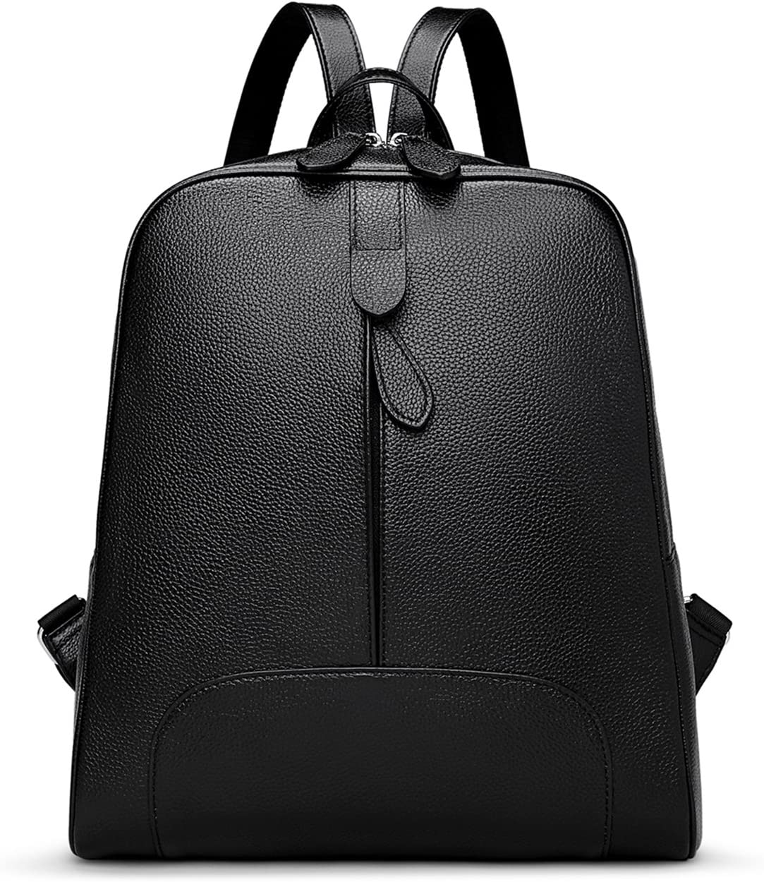 Hot Style Women Real Genuine Leather Backpack Purse SchoolBag for ladies by Coolcy (Black)