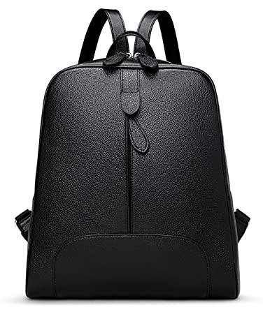 23927fc0545 Amazon.com   Hot Style Women Real Genuine Leather Backpack Purse SchoolBag  for ladies by Coolcy (Black)   Backpacks