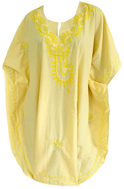 La Leela Mujeres Caftán playa túnica larga playa bikini de moda vertuschung Blusa Kimono corta hasta 15 olors máximo de vestido a elegir: LA LEELA: ...