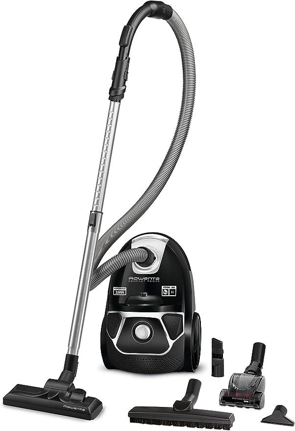 Rowenta Compact Power RO3985 - Aspiradora (750 W, Aspiradora cilíndrica, Secar, Bolsa para el polvo, 3 L, Filtro higiénico): Amazon.es: Hogar