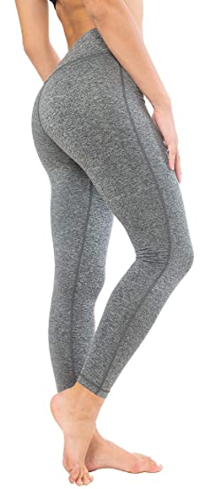 3316cd4845971d Queenie Ke Women Power Stretch Plus Size High Waist Yoga Pants Running  Tights Size XL Color Space Dye Grey: Amazon.co.uk: Clothing