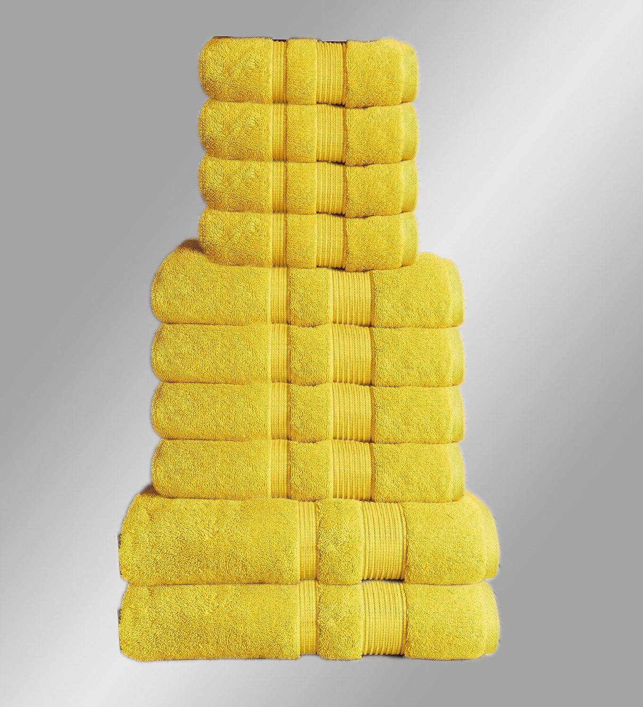 10er Set Handtuch Handtücher Handtücher Handtücher Badetuch Duschtuch Gästetuch Baumwolle Sauna Hamam (Grau) B07FN3KZ26 Sets 246ab9