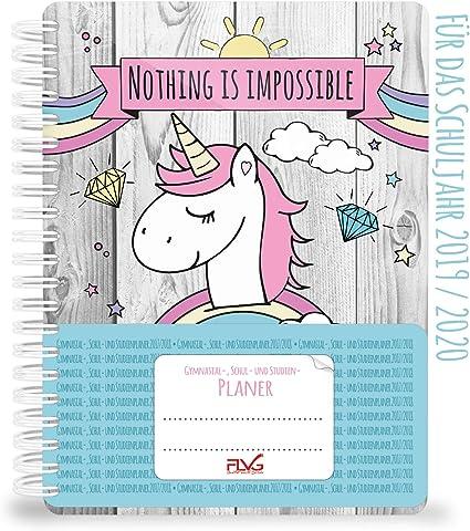 Agenda escolar y de estudio FLVG 2019/2020: calendario unicornio ...