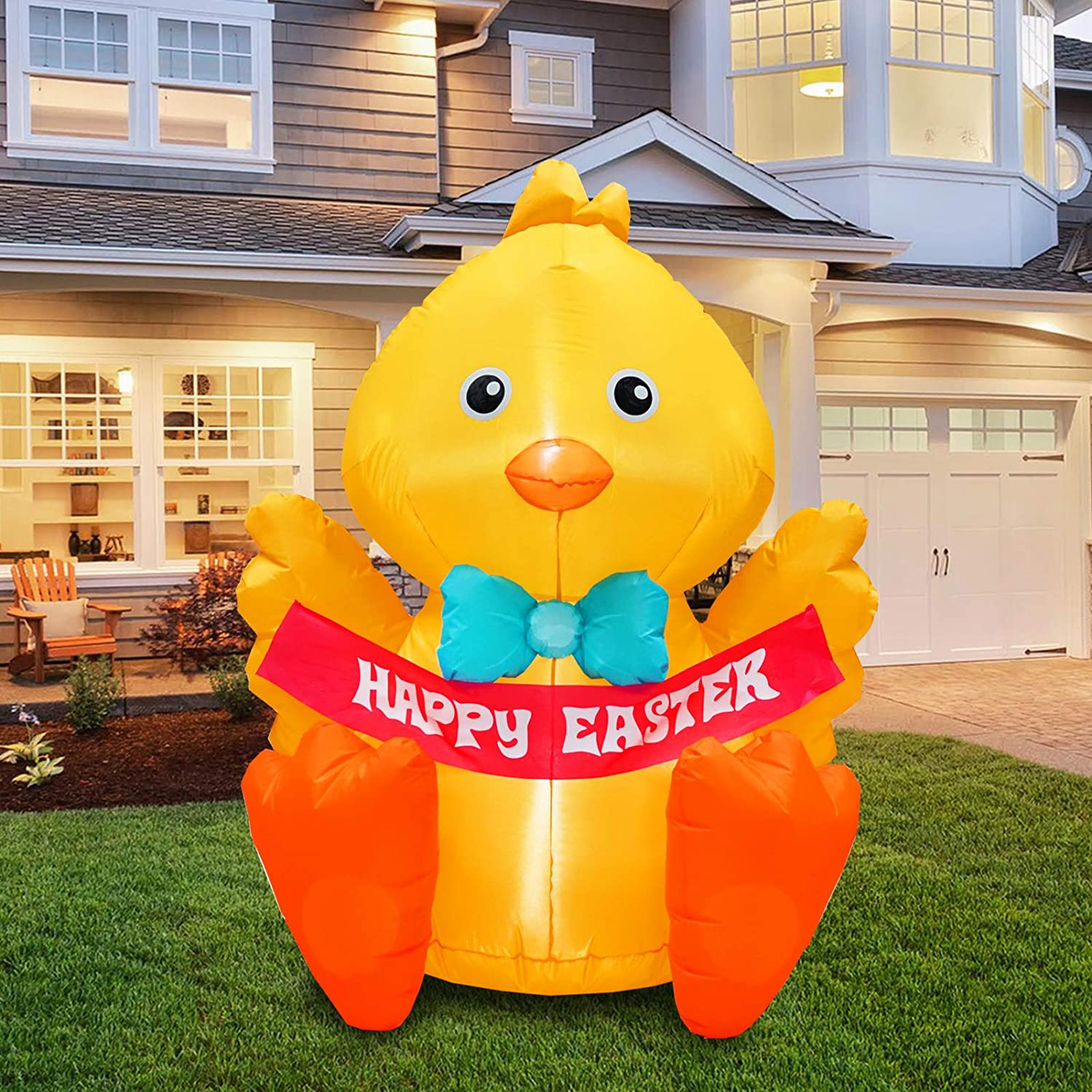 inslife 4 Ft Inflatable Baby Chick Lighted Easter Decoration for Home Yard Lawn Garden Indoor Outdoor