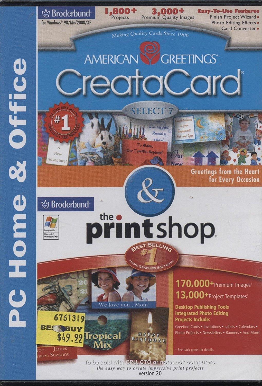 Amazon American Greetings Creatacard The Print Shop Version 20