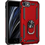 Korecase iPhone SE 2020 Case Military Protection with Built-in 360 Rotation Kickstand Support Car Magnetic Holder for iPhone