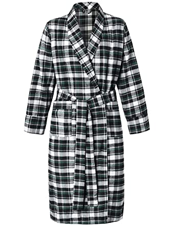 4ce066f06c Latuza Women s Cotton Flannel Robe at Amazon Women s Clothing store