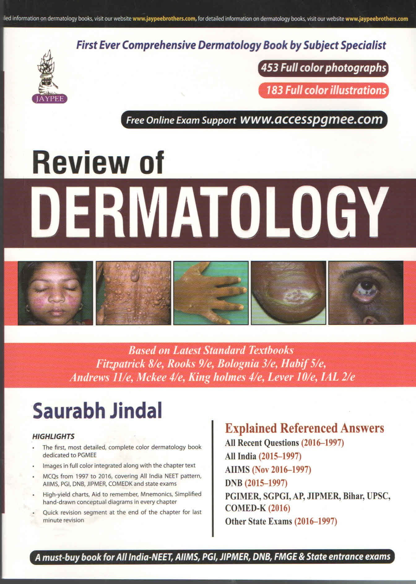 Download REVIEW OF DERMATOLOGY [Paperback] JINDAL SAURABH pdf epub