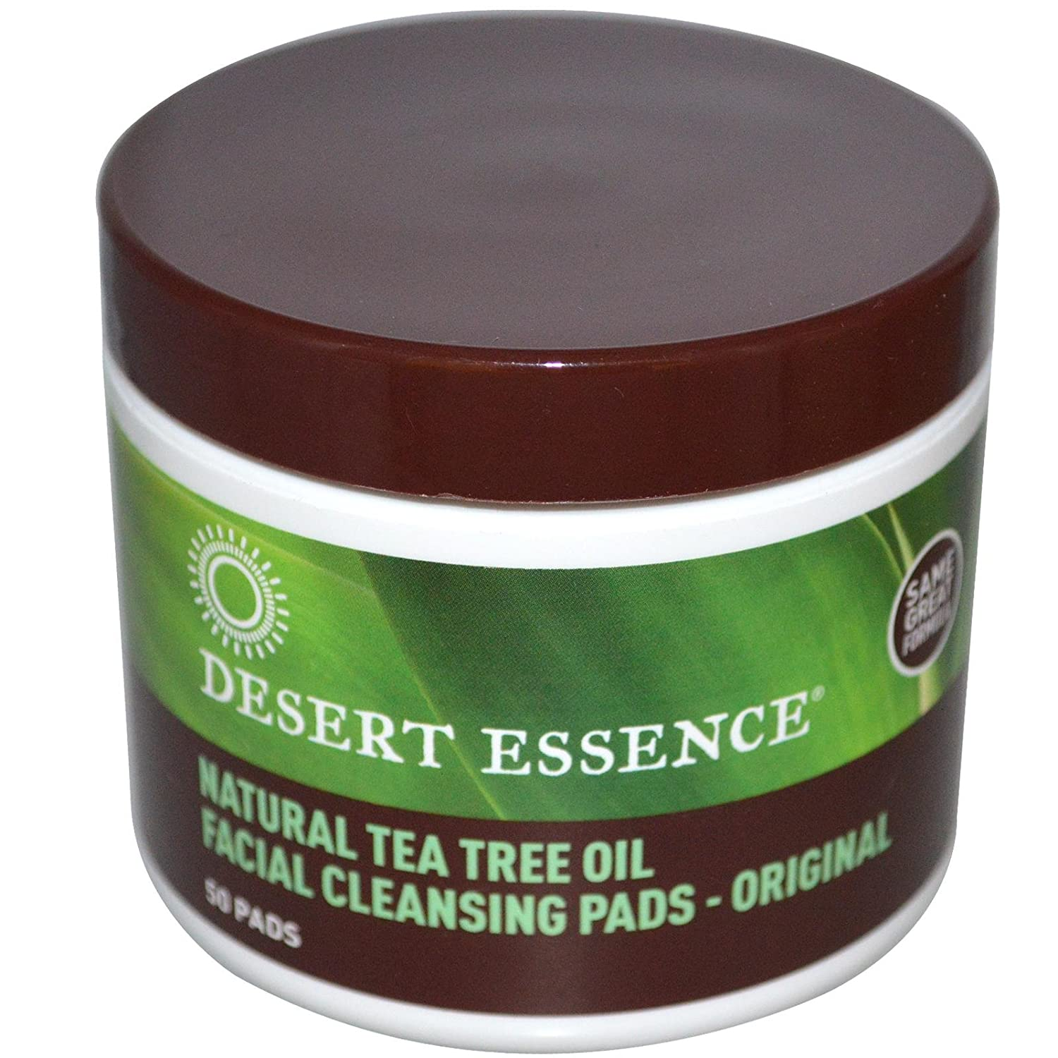 Desert Essence Natural Cleansing Pads with Tea Tree Oil, 50ct 3260NDE