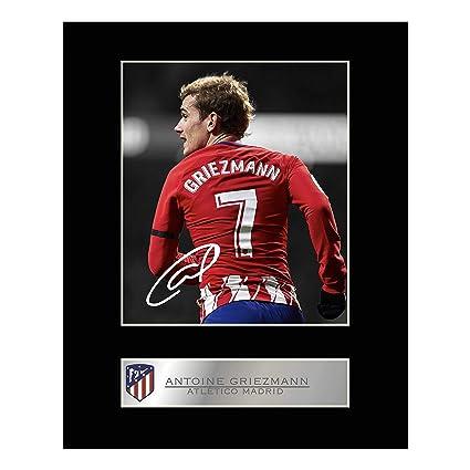Antoine Griezmann firmado foto enmarcada atlético de madrid: Amazon.es: Hogar