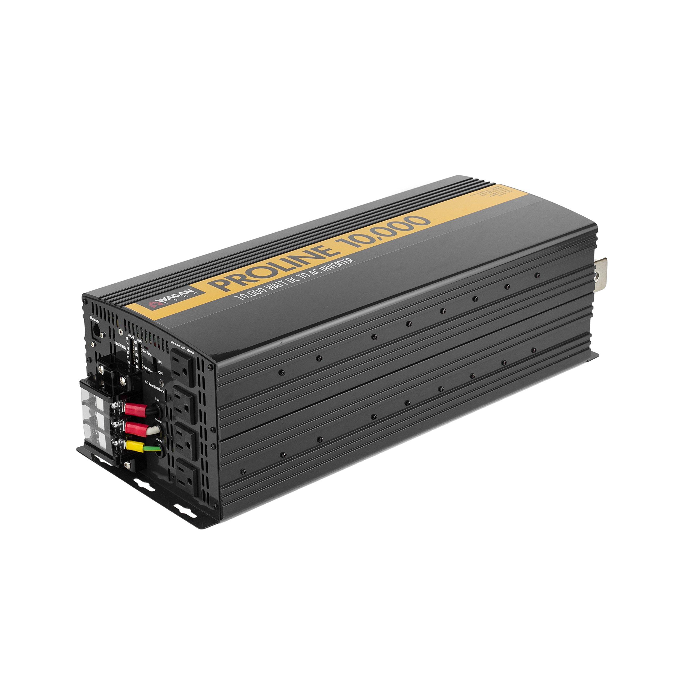 Wagan Black EL3748 12V 10000 Inverter with Remote