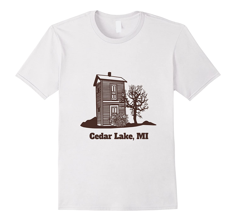 Cedar Lake Michigan Two-story Outhouse T-shirt-T-Shirt