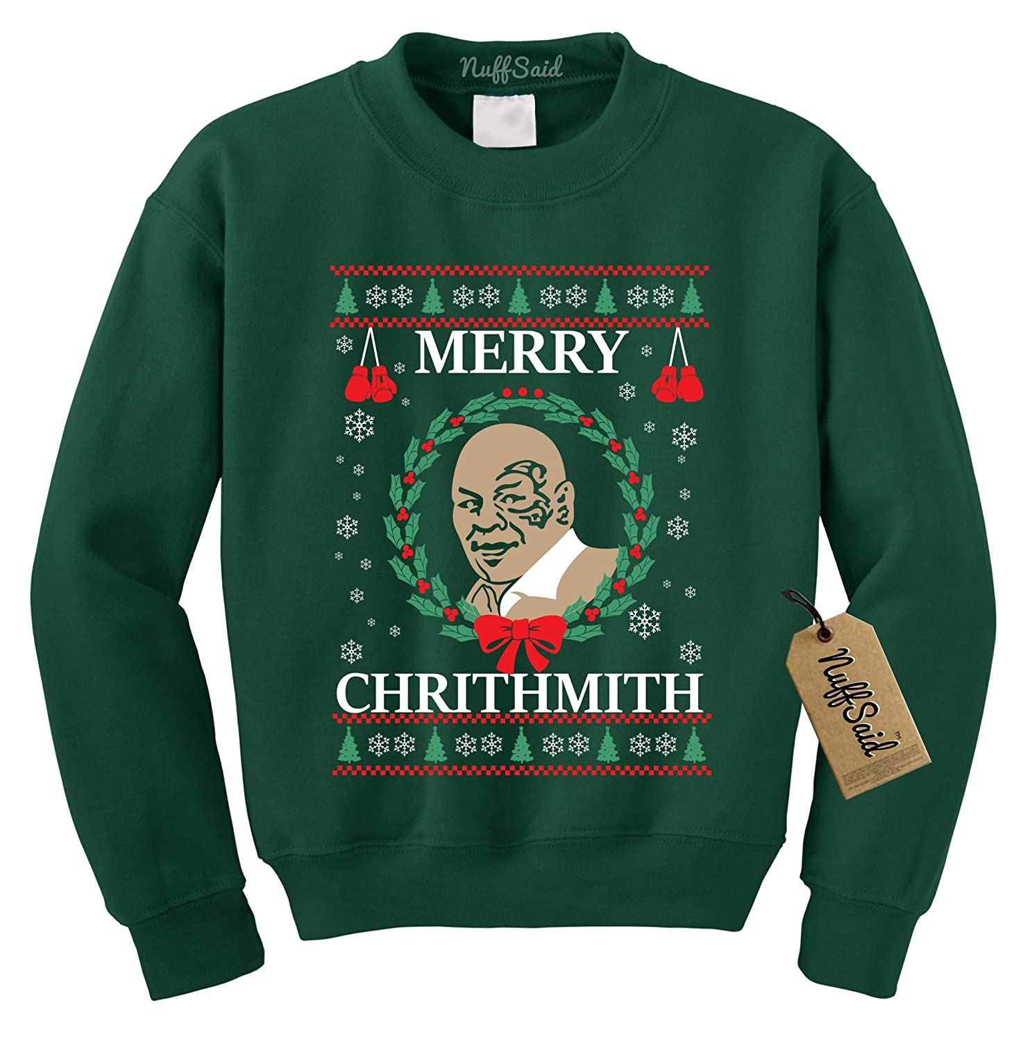 Amazon.com: NuffSaid Merry Chrithmith Chirithmith Mike Tyson Ugly ...