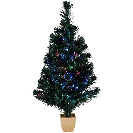 "Image Unavailable. Image not available for. Color: 32"" Green Fiber  Optic Color Changing Artificial Christmas Tree LED Lights - Amazon.com: 32"