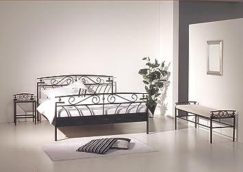 Modular Florenz 140 X 200 Cm Bett Metall Schwarz 140 200 Amazon