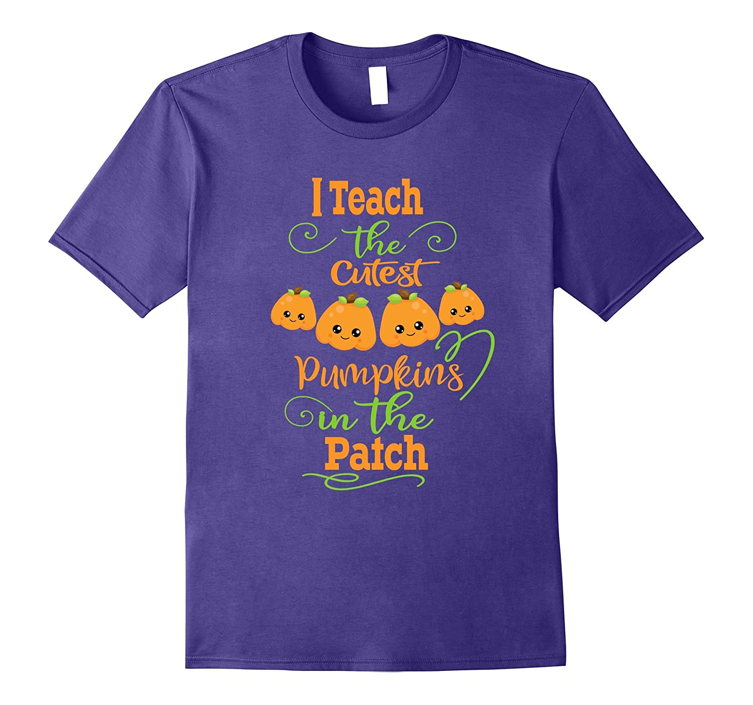Halloween Teachers T-Shirt- Cutest Pumpkins In The Patch-T-Shirt