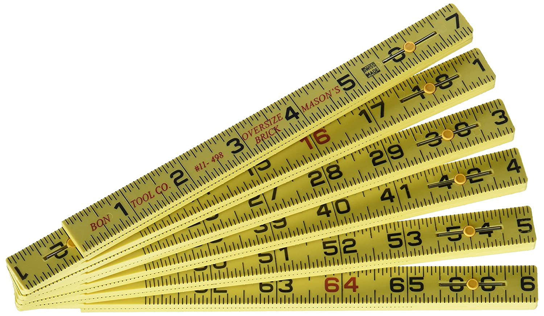 Bon 11-498 6ft Poly Oversized Brick Rule