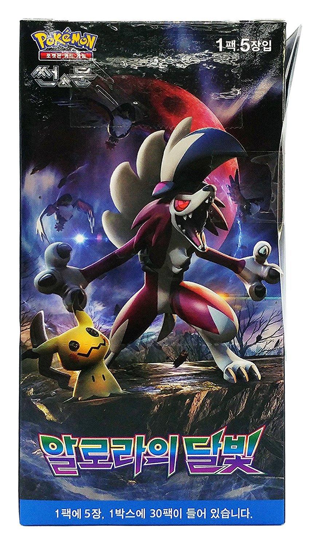 "Pokemon cards Sun /& Moon /""Alolan Moonlight/"" Booster Box // Kor Official 30 pack"