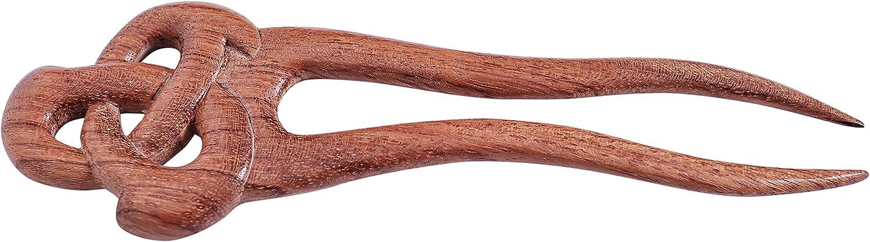 Handmade wooden HAIR PIN PICK STICK wavy style great grip EBONY wood natural new